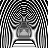 Percez un tunnel, voûte semi-circulaire avec le plancher partant dans la distance, illustration libre de droits