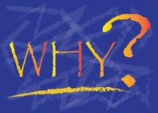 PERCHÉ con un grande punto interrogativo royalty illustrazione gratis