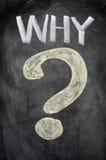 PERCHÉ con un grande punto interrogativo Immagini Stock