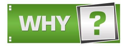 Perché Grey Square Left verde illustrazione vettoriale