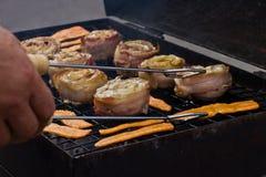 perch för baconbananfisk Royaltyfria Bilder