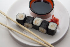 Perch maki on white Stock Image