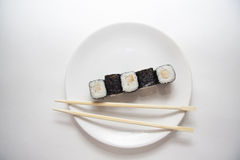 Perch maki on white Royalty Free Stock Photo