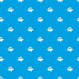 Perch pattern seamless blue. Perch pattern repeat seamless in blue color for any design. Vector geometric illustration Royalty Free Stock Photography