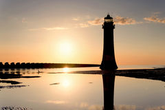 Perch Rock Lighthouse New Brighton Wirral England UK Royalty Free Stock Images
