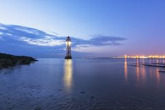 Perch Rock Lighthouse New Brighton Wirral England UK Stock Image