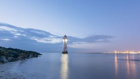 Perch Rock Lighthouse New Brighton Wirral England UK Stock Photography