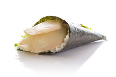 Perch sushi temaki isolated Stock Image