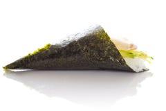 Perch sushi temaki isolated. On white background white bakground Stock Images