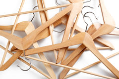 Percha de madera Fotografía de archivo libre de regalías