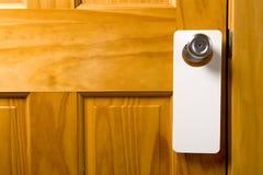 Percha de puerta en blanco fotos de archivo libres de regalías