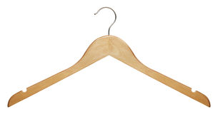Percha de ropa de madera Fotografía de archivo libre de regalías