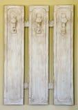 Percha de ropa de madera Foto de archivo libre de regalías