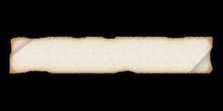 Perchament lungo. Vecchio documento o panno. Fotografia Stock