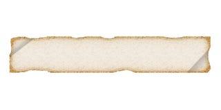 Perchament lungo. Vecchio documento o panno. Bianco. Immagine Stock Libera da Diritti