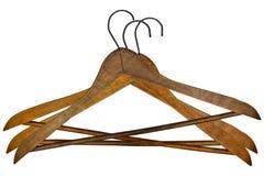 Perchas de ropa de la vendimia Foto de archivo libre de regalías