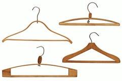 Perchas de ropa fijadas Fotografía de archivo libre de regalías