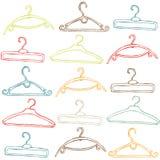 Perchas de ropa ilustradas Imagen de archivo libre de regalías