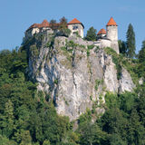 Perched castle of Bled Royalty Free Stock Photo