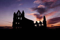 Whitby Abbey on Sunset Royalty Free Stock Photo