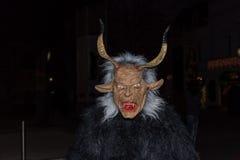 Perchten -万圣夜-面具和皮肤-万圣夜 免版税库存照片