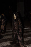 Perchten -万圣夜-面具和皮肤-万圣夜 免版税图库摄影