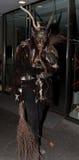 Perchten - allhelgonaafton - maskeringar och hudar - allhelgonaafton Royaltyfri Foto