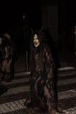 Perchten - allhelgonaafton - maskeringar och hudar - allhelgonaafton Royaltyfri Fotografi