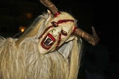 Perchten - Devil. Devil running with devil mask Stock Photo