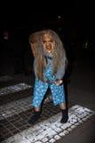 Perchten - Halloween - maskers en huiden - Halloween Stock Foto's