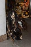 Perchten - Halloween - maskers en huiden - Halloween Stock Fotografie