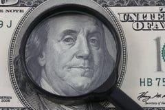 Perícia do dinheiro Fotografia de Stock
