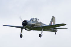 Percival Provost trainer aircraft. In flight Royalty Free Stock Images