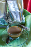 Percolator  and coffee with cicada Royalty Free Stock Photography