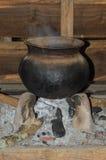 Percolator pot gemaakte †‹â€ ‹van aarden royalty-vrije stock afbeeldingen