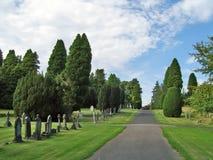 Percorso 1 del cimitero Immagini Stock Libere da Diritti