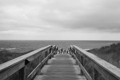 Percorso al mare fotografie stock libere da diritti