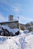 Percorso alla cima del castello Fotografie Stock