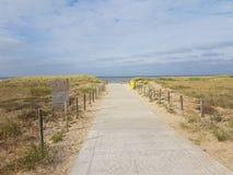 Percorso alla spiaggia in Noordwijk Immagini Stock Libere da Diritti