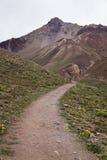 Percorso alla valle del Aconcagua Fotografie Stock