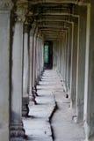 Percorso antico di Angkor Wat Fotografie Stock Libere da Diritti