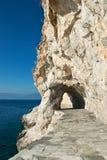 Percorso attraverso la roccia, Grecia Fotografia Stock Libera da Diritti