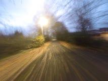 Percorso in bicicletta alla mattina Fotografia Stock