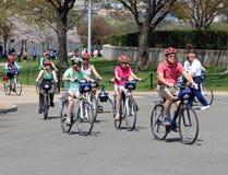 Percorso in bicicletta guida Immagini Stock