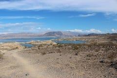 Percorso che conduce al Lago Mead nel Nevada Fotografie Stock