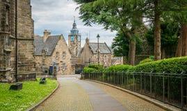 Percorso che conduce alla vecchia città di Stirling, Scozia fotografia stock