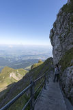Percorso circostante della passeggiata di Pilatus del supporto, Svizzera Fotografia Stock Libera da Diritti