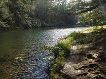 Percorso d'escursione solo del lago Immagine Stock