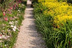 Percorso del giardino di Monet Fotografia Stock