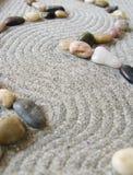 Percorso del giardino di zen Fotografia Stock